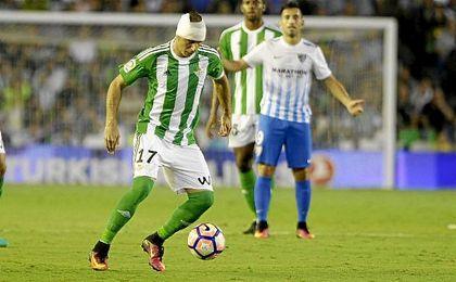 Joaquín, en el partido ante el Málaga.