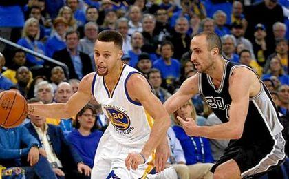Durant mostró galones desde el primer día y fue el máximo anotador local (27) por delante de Stephen Curry (26).
