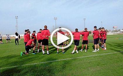 Sampaoli siguió este jueves con la preparación del partido del próximo sábado ante el Sporting.