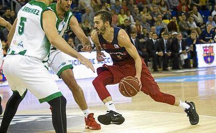 Pau Ribas, en el partido ante el Baloncesto Betis.