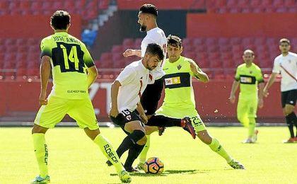 Curro e Ivi fueron los autores de los goles del Sevilla Atlético.