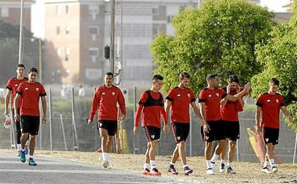 El Sevilla ya prepara el partido ante el Dinamo de Zagreb.