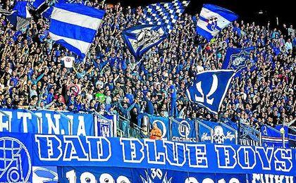 Una 'jaula' con dos facciones enemigas del Dinamo Zagreb - Estadio deportivo