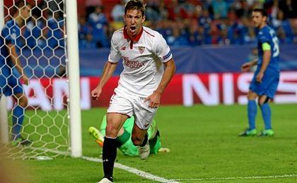 Vietto anotó el gol que abrió la lata ante el Dinamo.