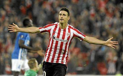 En la actual temporada, y con 13 partidos disputados, Aduriz acumula ya diez goles.