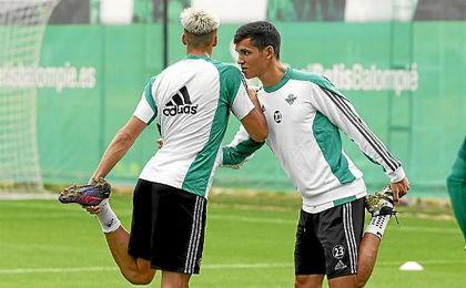 Jonas Martin y Mandi, en un entrenamiento.