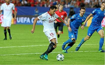 Ganso dio un salto de calidad ante el Dinamo de Zagreb.