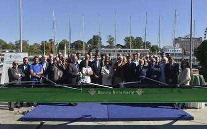 El Club Náutico Sevilla fue el escenario elegido para el homenaje a los primeros remeros verdiblancos de la Regata Sevilla-Betis.