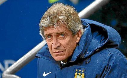 Pellegrini, durante su etapa en el Manchester City.