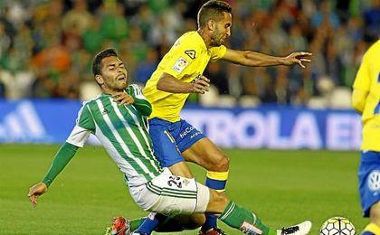 La última vez que Las Palmas puntuó en el campo del Betis fue en la 14-15, cuando empataron a cero.