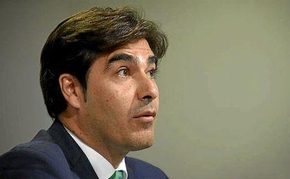 Ángel Haro, durante la presentacion de Víctor.