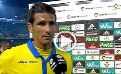 Vicente Gómez, ante las cámaras de Gol