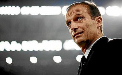 Allegri, durante un partido reciente con la Juventus.