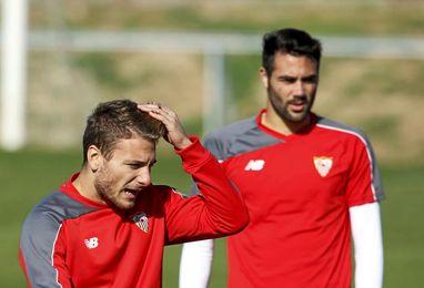 Immobile, en su corta etapa en el Sevilla.