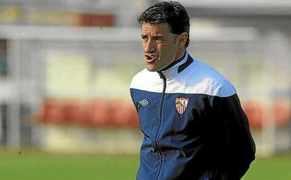 Míchel, durante su etapa en el Sevilla en la temporada 12/13.
