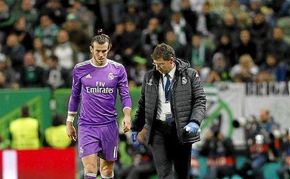 Bale se lesionó en el partido de Liga de Campeones del Real Madrid ante el Sporting de Portugal.