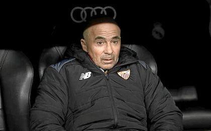 El técnico de Casilda, dolido por el dominio del juego del Real Madrid.