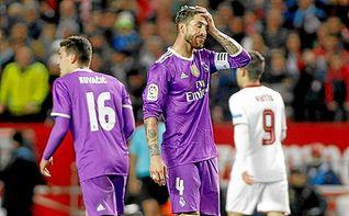 LaLiga denuncia insultos a Ramos y al Real Madrid en el Sánchez Pizjuán