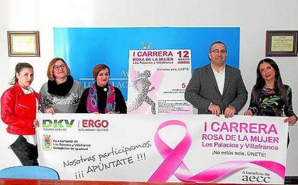 Los Palacios y Villafranca celebrará el 12 de marzo la I Carrera Rosa entre los actos conmemorativos del Día Internacional de la Mujer.