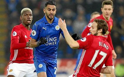 El Manchester United hunde al Leicester