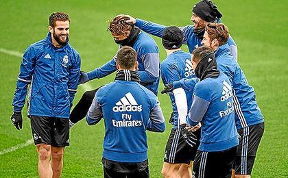 Imagen de un entrenamiento del Real Madrid.
