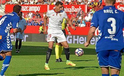 Ante el Alavés, Ganso cuajó una de sus mejores actuaciones con el Sevilla.
