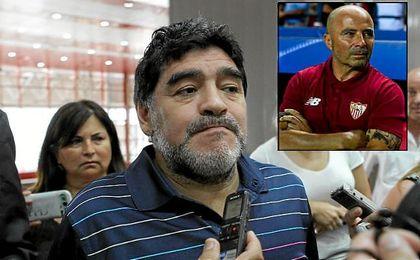 """Maradona: """"Sampaoli me parece el mejor entrenador del momento"""""""