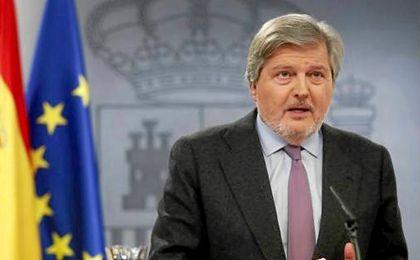 Méndez de Vigo, en la rueda de prensa.