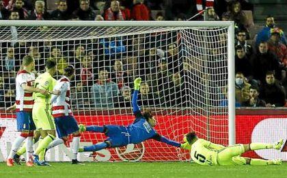 Petros anotó el único gol del Real Betis en Granada.