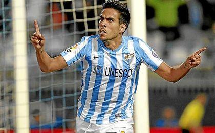 El jugador del Málaga vive un sueño.