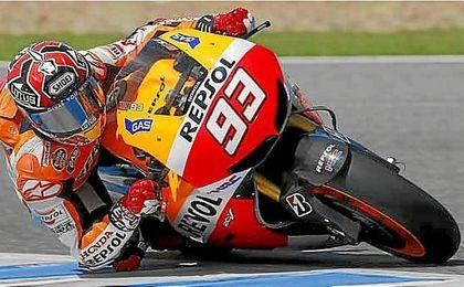 Márquez y Pedrosa calientan motores en el Circuito de Jerez