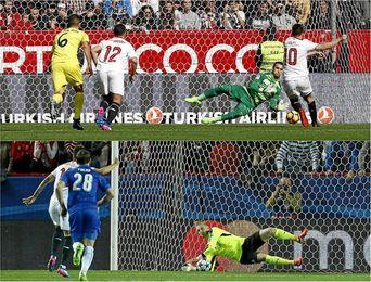 Nasri y Correa han fallado los dos últimos penaltis en el Sevilla.