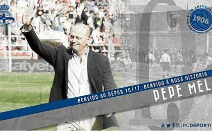 Mel llega para lograr la permanencia en Primera División del conjunto gallego. RCD.