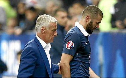 """Deschamps: """"Si Benzema sigue jugando así, volverá en algún momento a la selección"""""""