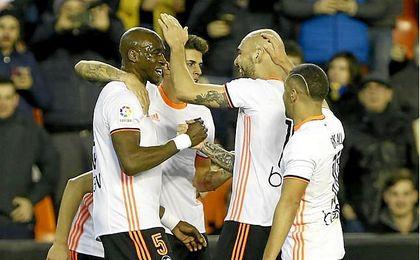 El Valencia C.F. logra su tercera victoria consecutiva como local.