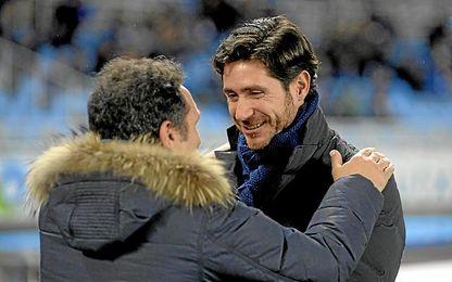 Eusebio y Víctor, en el Real Sociedad-Deportivo de la 15/16.