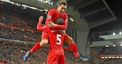 El Liverpool se ha metido en puestos de Champions.