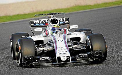 Massa marca la diferencia en los entrenamientos.