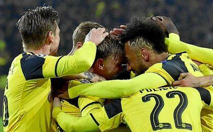 Dortmund 4-0 Benfica: El Dortmund se mete en cuartos con un triplete de Aubameyang