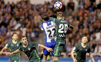 """Borges: """"Para mí sí es penalti, recibo un codazo en la mandíbula"""""""