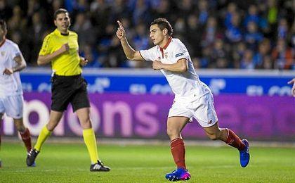 Ben Yedder, el debutante con más gol de LaLiga