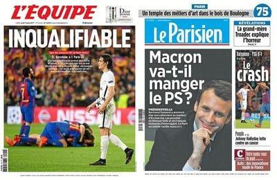 La prensa francesa critica al PSG tras su eliminación en Champions.
