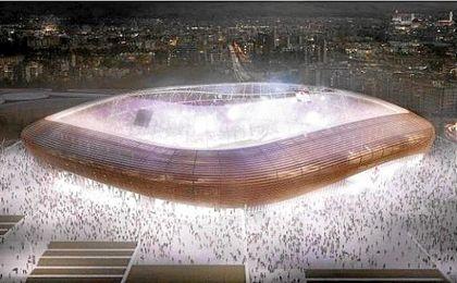 Imagen del proyecto del nuevo estadio de la Fiorentina.