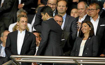 Sarkozy la lió en el Camp Nou