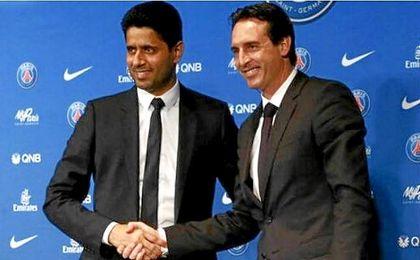 El presidente del PSG mantiene su confianza en Emery tras la derrota