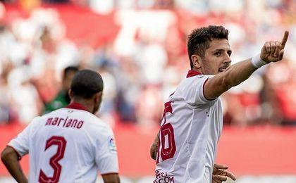 Jovetic ya suma cuatro goles con el Sevilla.
