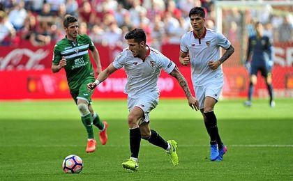 Jovetic, durante el partido contra el Leganés. UESyndication.