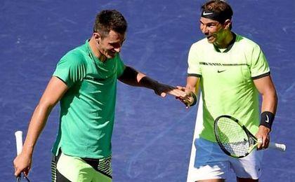 Nadal y Tomic caen en dobles ante Klaasen y Rajeev en Indian Wells