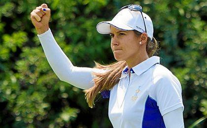 Azahara Muñoz se encuentra en el top50 del golf femenino mundial.