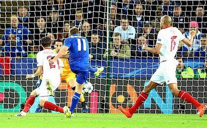 El Leicester se ha puesto por delante del Sevilla.